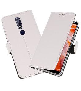 Wallet Cases Hoesje voor Nokia 3.1 Plus Wit