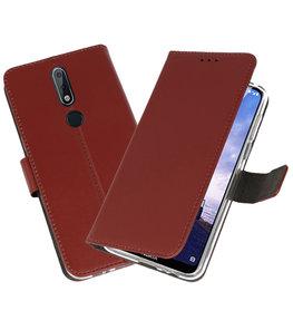Wallet Cases Hoesje voor Nokia X6 6.1 Plus Bruin