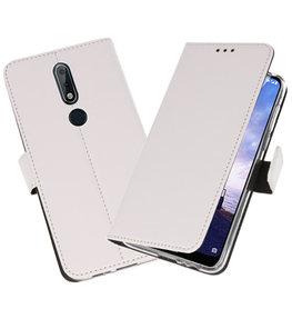 Wallet Cases Hoesje voor Nokia X6 6.1 Plus Wit
