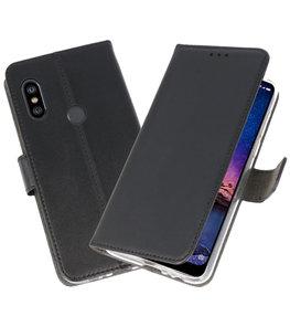 Wallet Cases Hoesje voor XiaoMi Redmi Note 6 Pro Zwart