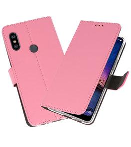 Wallet Cases Hoesje voor XiaoMi Redmi Note 6 Pro Roze