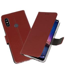 Wallet Cases Hoesje voor XiaoMi Redmi Note 6 Pro Bruin