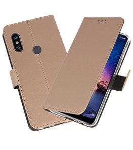 Wallet Cases Hoesje voor XiaoMi Redmi Note 6 Pro Goud