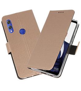 Wallet Cases Hoesje voor Huawei Note 10 Goud