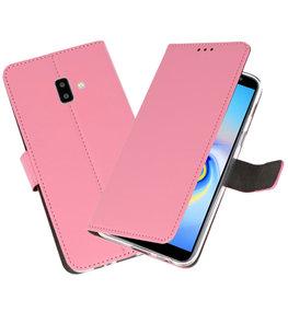 Wallet Cases Hoesje voor Galaxy J6 Plus Roze