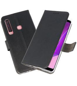 Wallet Cases Hoesje voor Samsung Galaxy A9 2018 Zwart