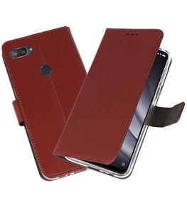 Wallet Cases Hoesje voor XiaoMi Mi 8 Lite Bruin