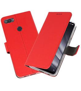 Wallet Cases Hoesje voor XiaoMi Mi 8 Lite Rood