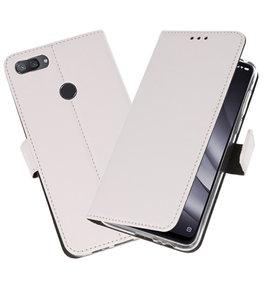 Wallet Cases Hoesje voor XiaoMi Mi 8 Lite Wit