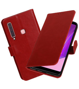 Hoesje voor Samsung Galaxy A9 2018 Pull-Up Booktype Rood