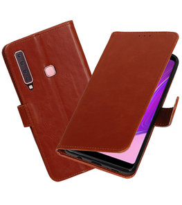 Hoesje voor Samsung Galaxy A9 2018 Pull-Up Booktype Bruin