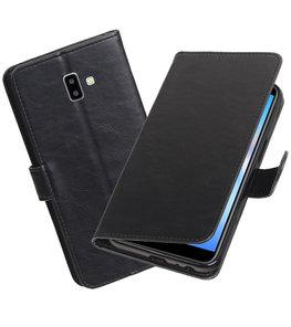 Hoesje voor Samsung Galaxy J6 Plus Pull-Up Booktype Zwart