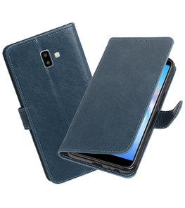 Hoesje voor Samsung Galaxy J6 Plus Pull-Up Booktype Blauw