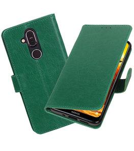Hoesje voor Nokia 8.1 Pull-Up Booktype Groen