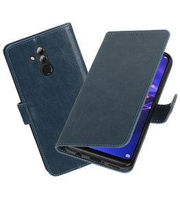 Hoesje voor Huawei Mate 20 Lite Pull-Up Booktype Blauw