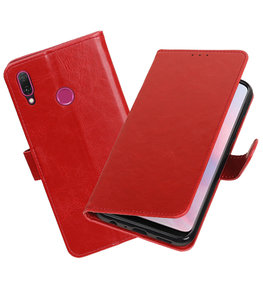 Hoesje voor Huawei Y9 2019 Pull-Up Booktype Rood