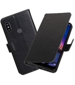 Hoesje voor XiaoMi Redmi Note 6 Pro Pull-Up Booktype Zwart