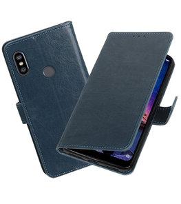 Hoesje voor XiaoMi Redmi Note 6 Pro Pull-Up Booktype Blauw