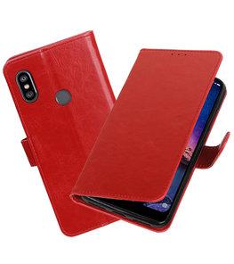 Hoesje voor XiaoMi Redmi Note 6 Pro Pull-Up Booktype Rood