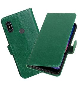 Hoesje voor XiaoMi Redmi Note 6 Pro Pull-Up Booktype Groen