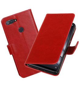 Hoesje voor XiaoMi Mi 8 Lite Pull-Up Booktype Rood