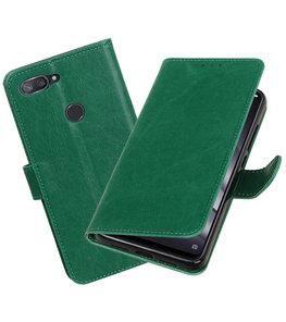 Hoesje voor XiaoMi Mi 8 Lite Pull-Up Booktype Groen