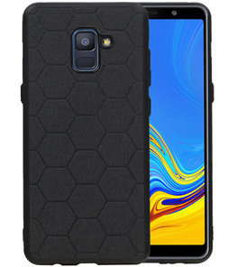 Hexagon Hard Case voor Samsung Galaxy A8 Plus 2018 Zwart