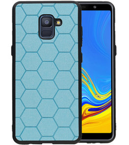Hexagon Hard Case voor Samsung Galaxy A8 Plus 2018 Blauw