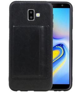 Staand Back Cover 1 Pasjes voor Galaxy J6 Plus Zwart