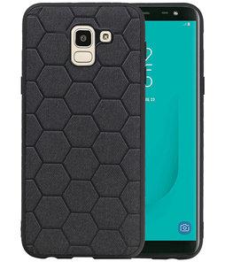 Hexagon Hard Case voor Samsung Galaxy J6 Zwart