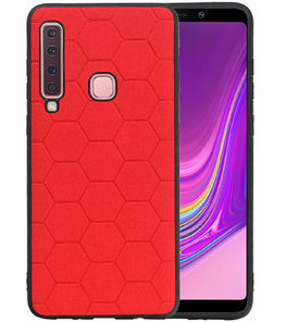 Hexagon Hard Case voor Samsung Galaxy A9 2018 Rood