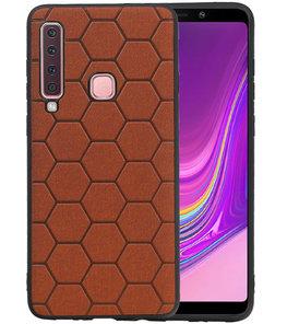 Hexagon Hard Case voor Samsung Galaxy A9 2018 Bruin