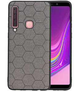 Hexagon Hard Case voor Samsung Galaxy A9 2018 Grijs