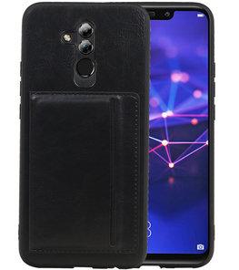 Staand Back Cover 1 Pasjes voor Huawei Mate 20 Lite Zwart