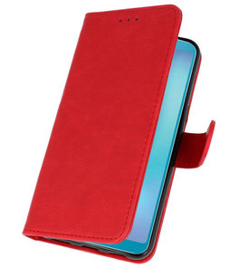 Bookstyle Wallet Cases Hoes voor Honor View 20 Rood