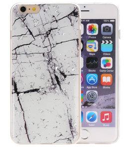 Marble Wit Print Hardcase voor iPhone 6 Plus