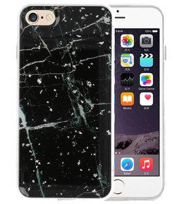 Marble Zwart Print Hardcase voor iPhone 8