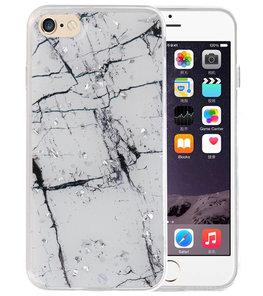 Marble Wit Print Hardcase voor iPhone 8