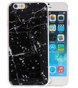 Marble Zwart Print Hardcase voor iPhone 6