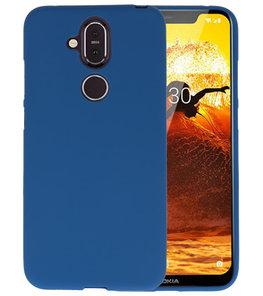 Navy Color TPU Hoesje voor Nokia 8.1