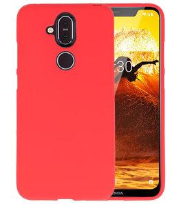 Rood Color TPU Hoesje voor Nokia 8.1