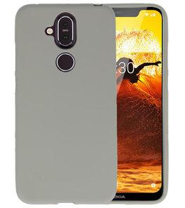 Grijs Color TPU Hoesje voor Nokia 8.1