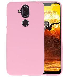 Roze Color TPU Hoesje voor Nokia 8.1