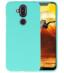 Turquoise Color TPU Hoesje voor Nokia 8.1