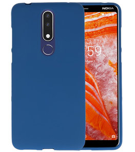 Navy Color TPU Hoesje voor Nokia 3.1 Plus