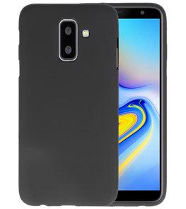 Zwart Color TPU Hoesje voor  Samsung Galaxy A6 Plus