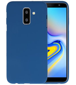 Navy Color TPU Hoesje voor Samsung Galaxy A6 Plus