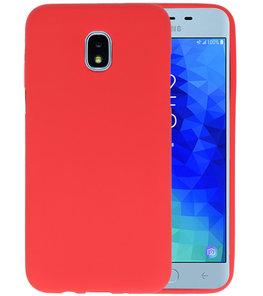 Rood Color TPU Hoesje voor Samsung Galaxy J3 2018
