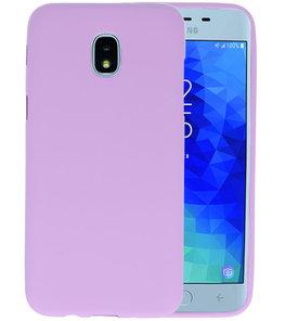 Paars Color TPU Hoesje voor Samsung Galaxy J3 2018
