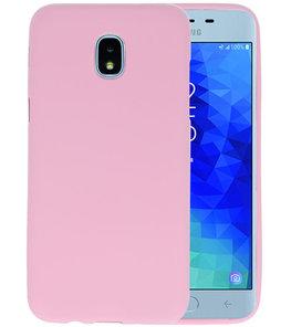 Roze Color TPU Hoesje voor Samsung Galaxy J3 2018